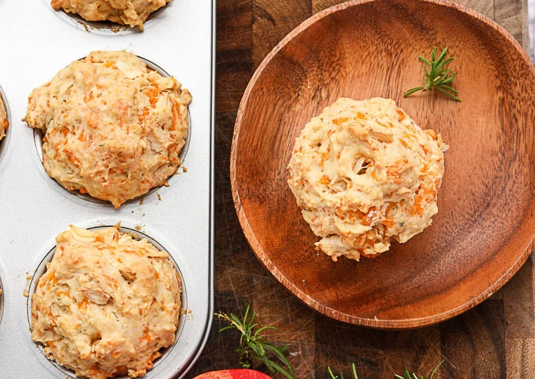 Apple Cheddar Muffins with Rosemary - The Food Blog