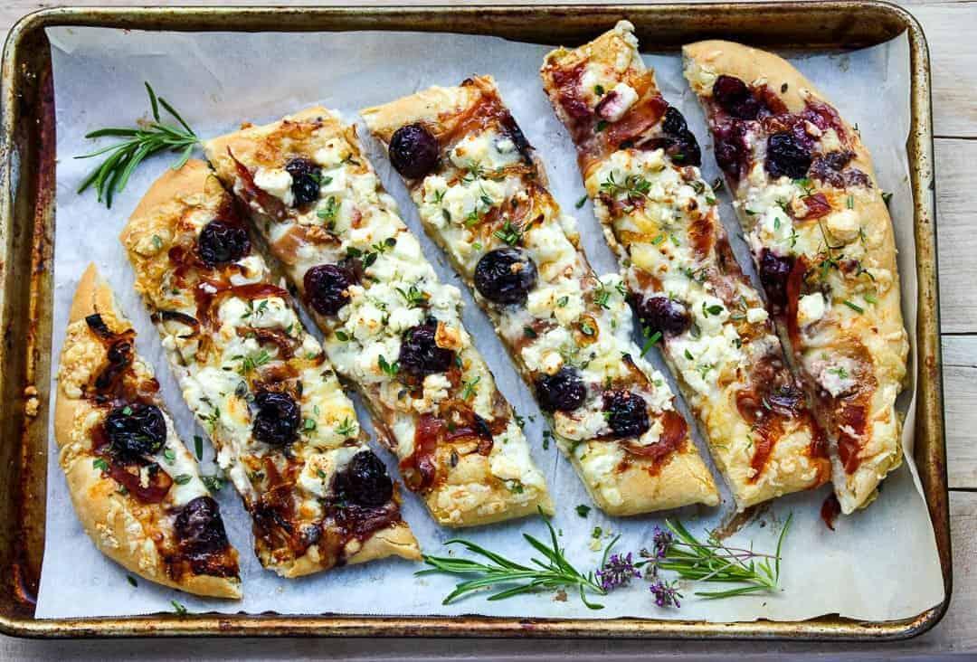 Balsamic Cherry, Feta & Prosciutto Pizza