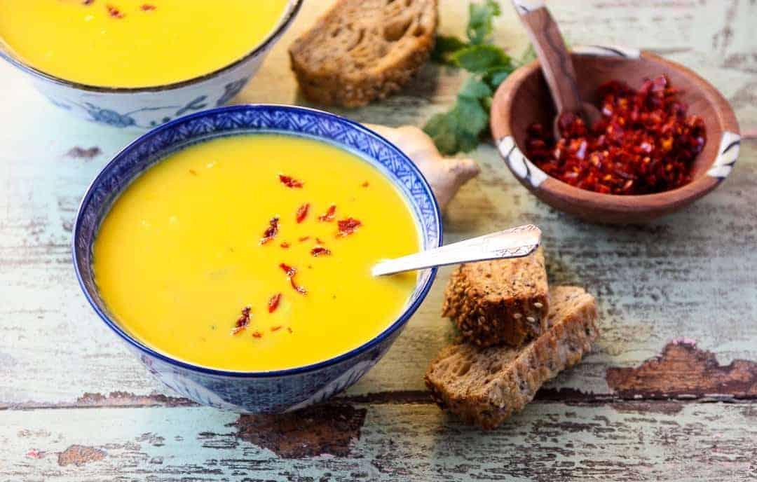 Ginger Carrot Lentil Soup. Easy