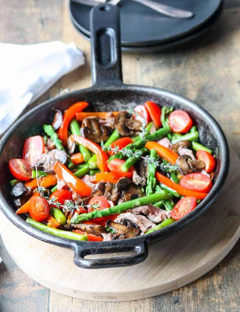 steak  asparagus stir fry recipe  the food blog